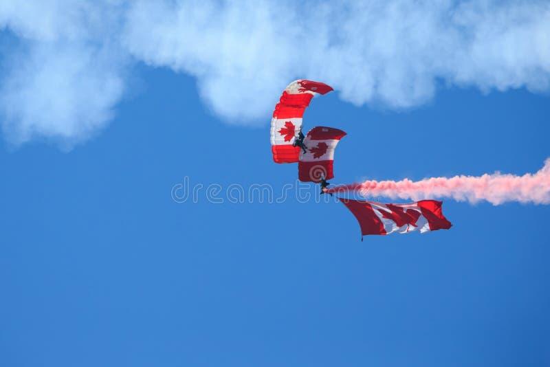 Canadees het Valschermteam van Krachtenskyhawks royalty-vrije stock fotografie