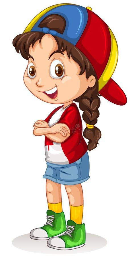 Canadees meisje met een GLB-status stock illustratie