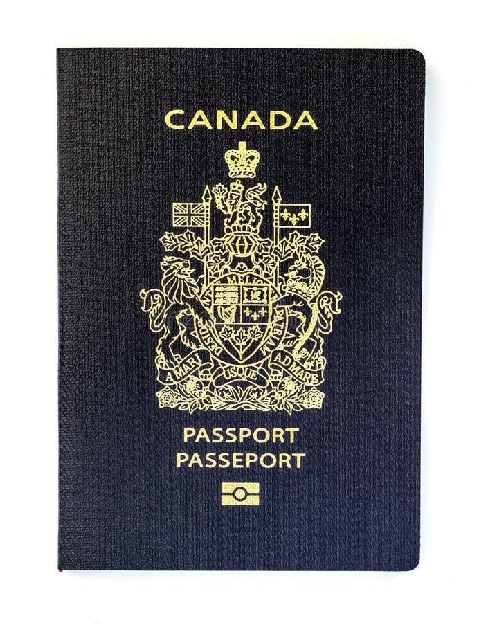 Canadees paspoort op witte achtergrond stock afbeeldingen