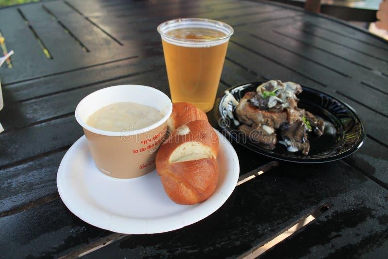 Canadees voedsel bij het Paviljoen van Canada stock foto