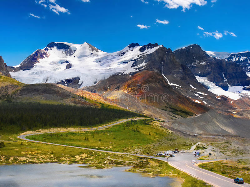 Canadense Rocky Mountain Park, Alberta fotografia de stock