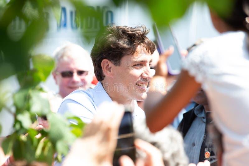 Canadese Eerste minister Justin Trudeau royalty-vrije stock afbeeldingen