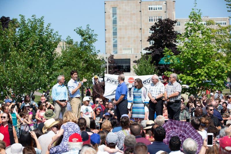 Canadese Eerste minister Justin Trudeau Gestures royalty-vrije stock afbeeldingen