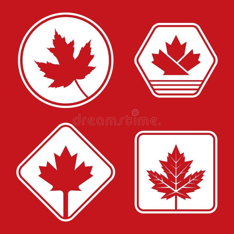 Canadese Kentekens stock illustratie