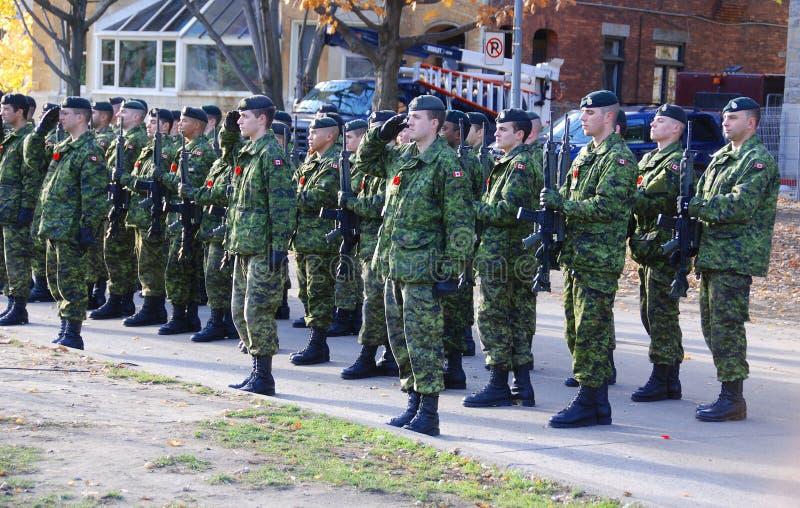 Canadese militair stock afbeelding