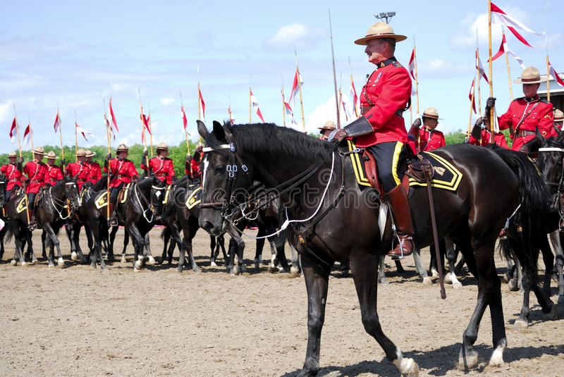 Canadese RCMP stock foto