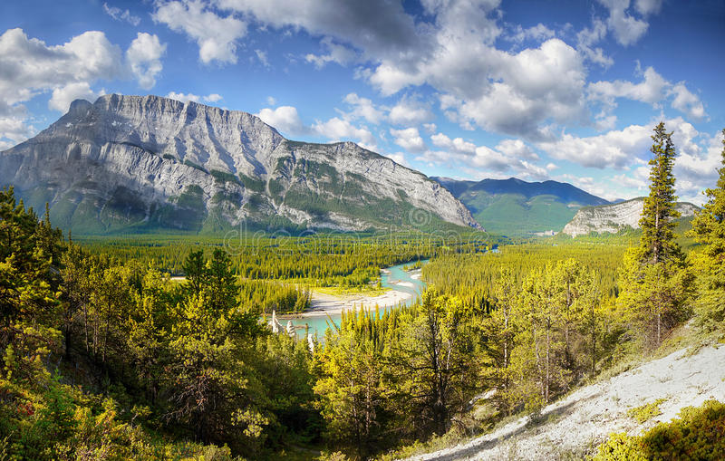 Canadese Rockies, Alberta royalty-vrije stock afbeelding