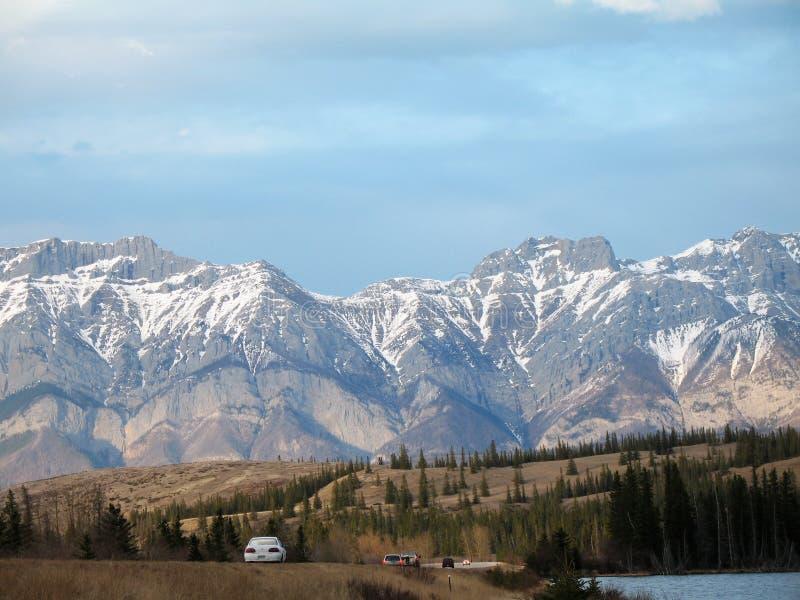 Canadese rockies van de lente stock afbeelding