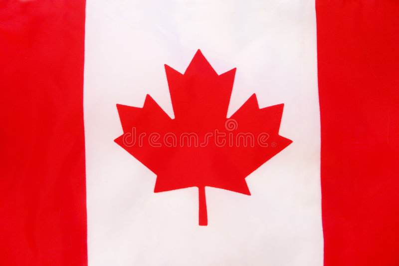 Canadese Vlag Stock Fotografie