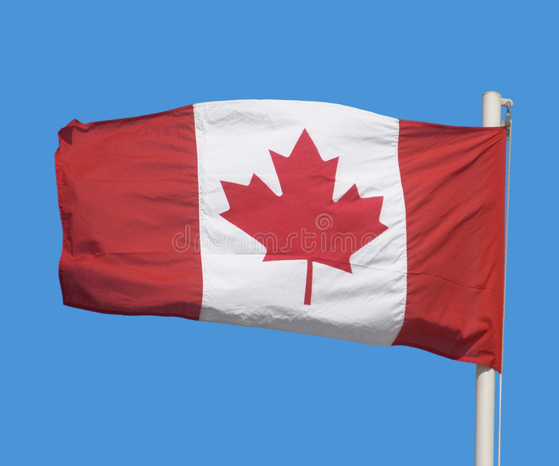 Canadese vlag stock afbeelding