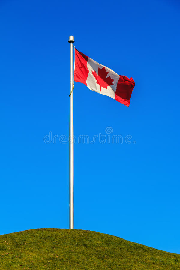 Canadese vlag stock afbeelding