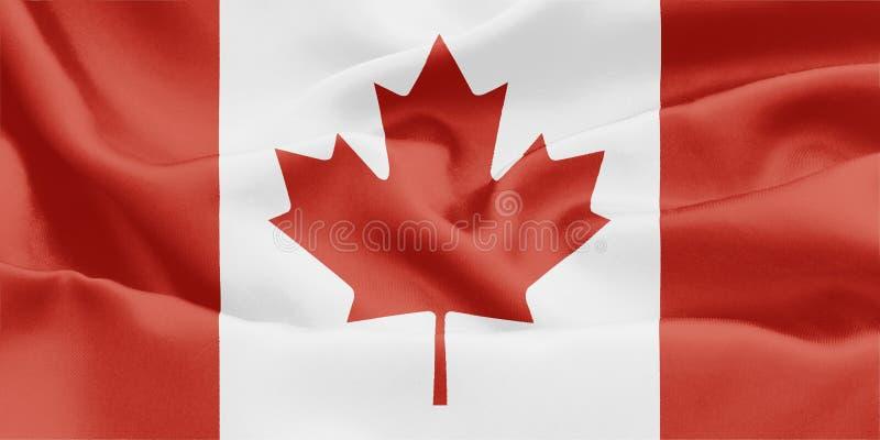 Canadese vlag - Canada stock illustratie