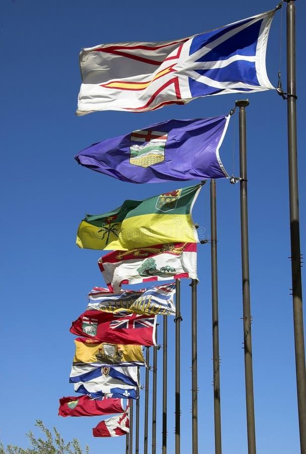Canadese vlaggen stock fotografie