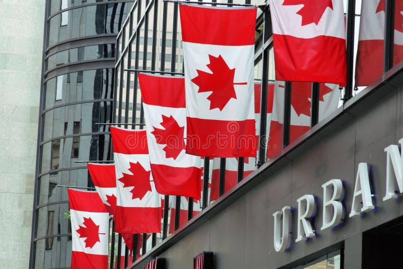 Canadese Vlaggen stock foto's