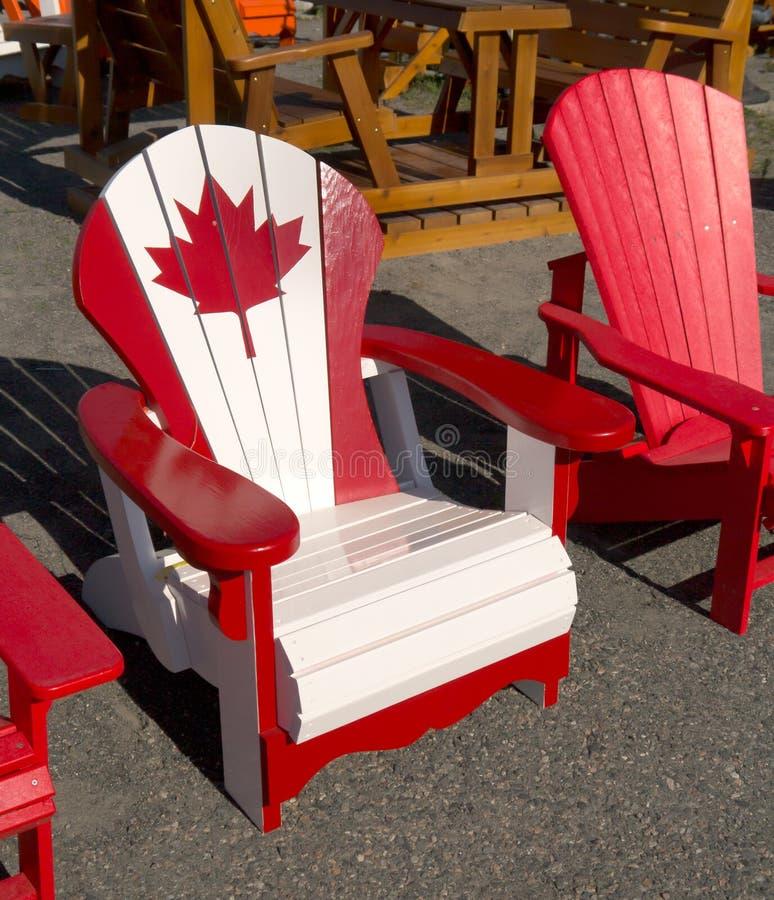 Canadian Adirondack Chair stock photo