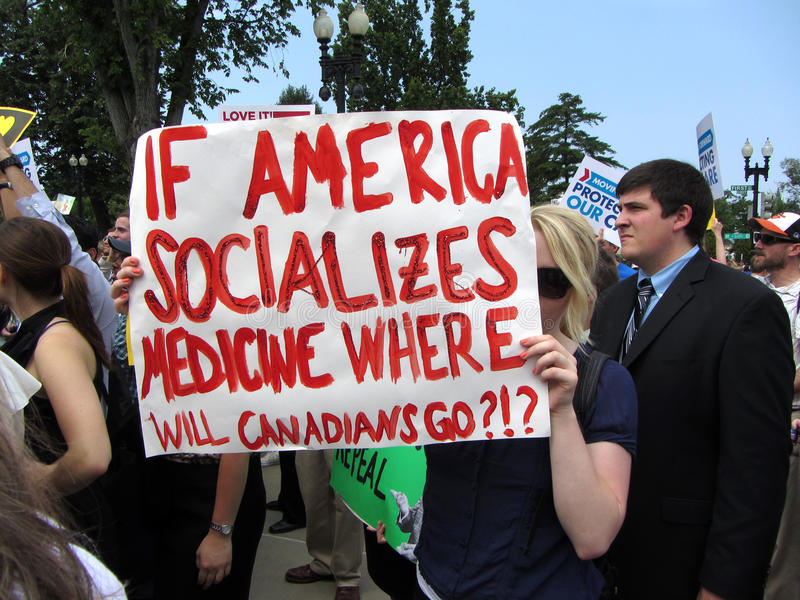 Download Canadian Against Obamacare editorial photo. Image of care - 25499191