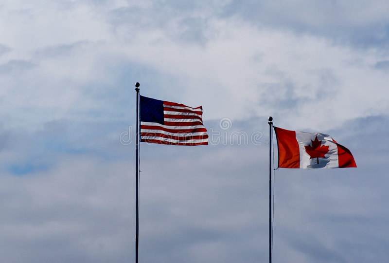 Canadian-american border stock photography