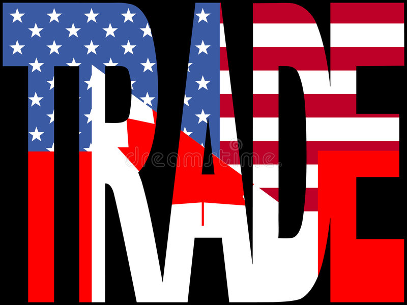 Canadian and American trade stock illustration