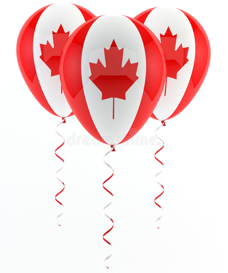Download Canadian balloons - flag stock illustration. Image of canadian - 28857177