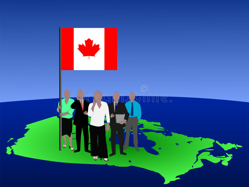 Canadian business team royalty free illustration