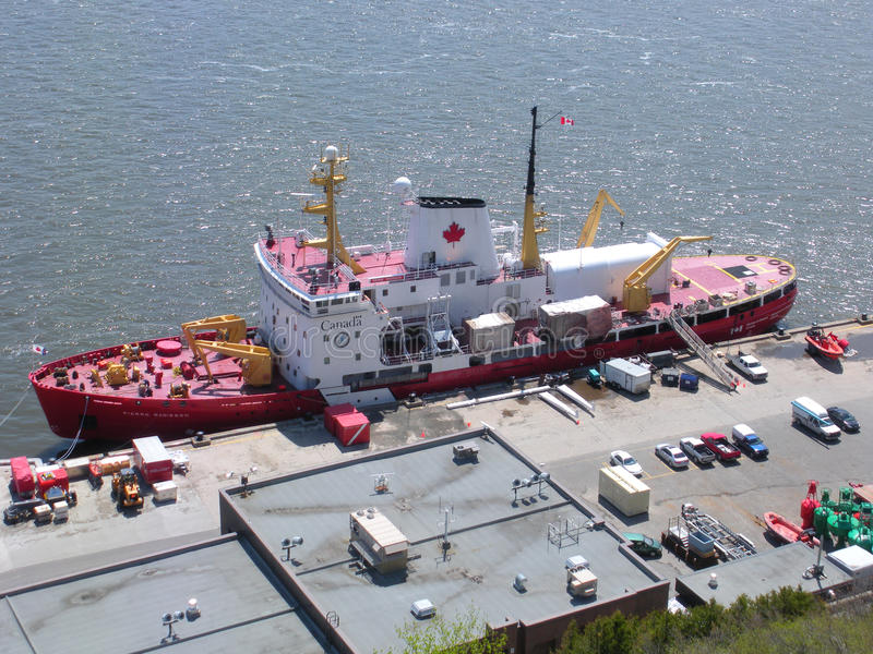 Canadian Coast Guard (CCG), or in French, Garde côtière canadienne (GCC), Quebec City, Canada royalty free stock photo