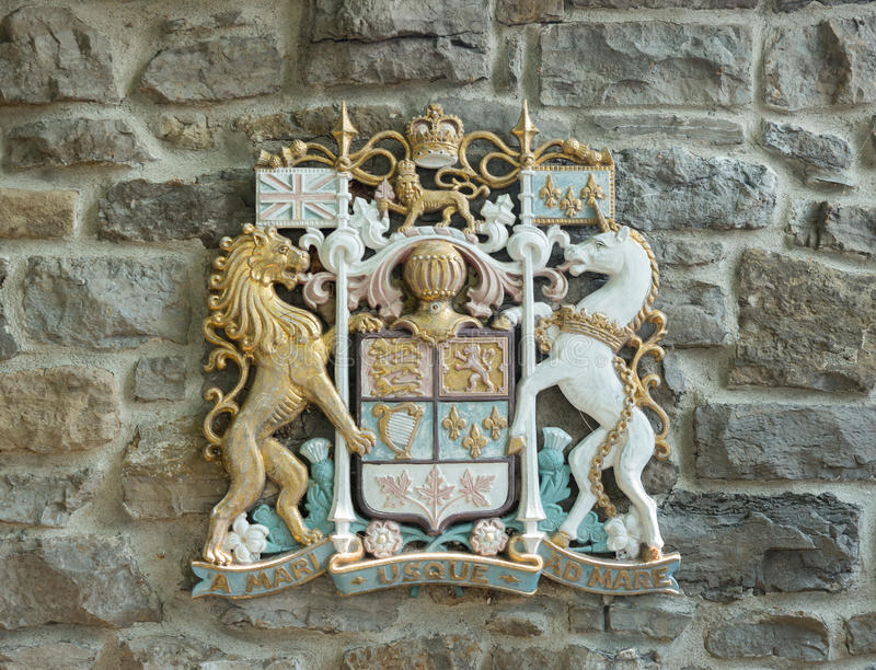 CAnadian Coat of Arms royalty free stock photos