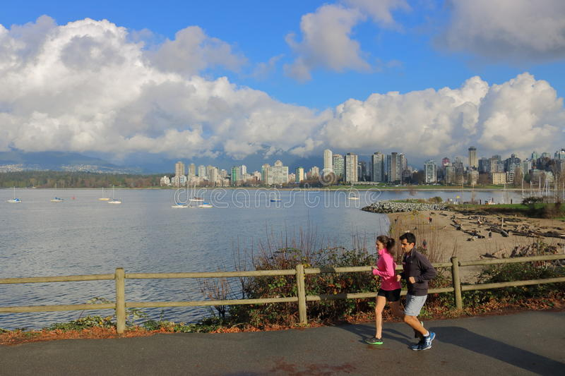 Canadian Couple and Vancouver stock images