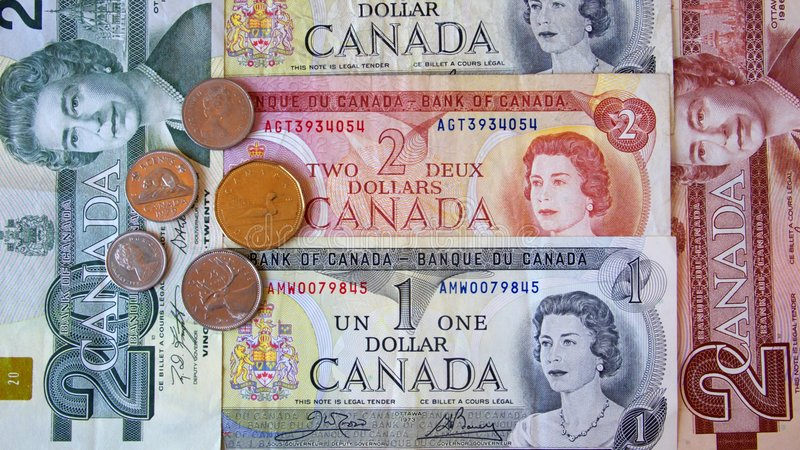Canadian Dollar royalty free stock photography