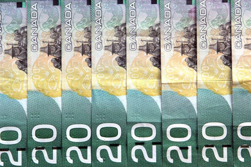 Canadian Dollar Bills royalty free stock photos