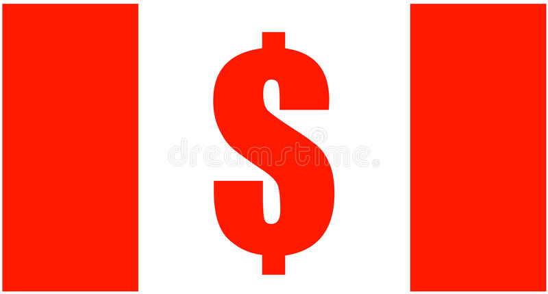 Canadian Dollar Sign Flag Royalty Free Stock Image