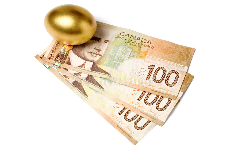 Canadian dollars royalty free stock photography