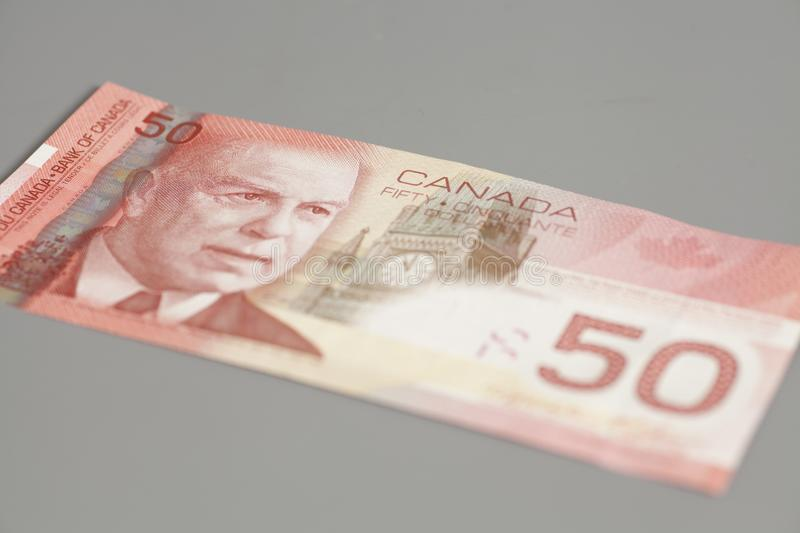 Canadian 50 dollars banknote royalty free stock photography