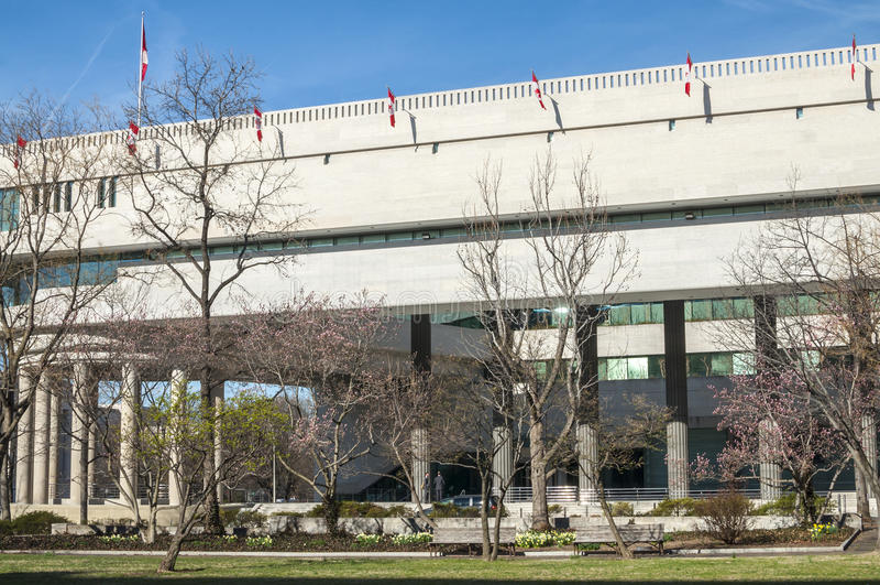 Canadian embassy in Washington D.C. stock image