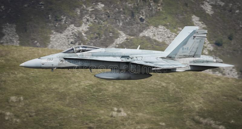 Canadian F18 fighter jet stock images
