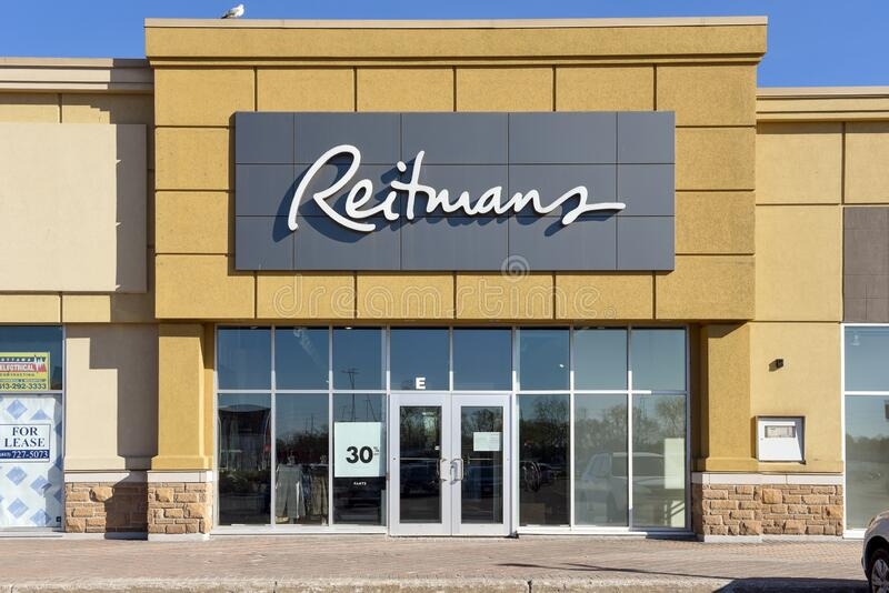 Canadian fashion chain Reitmans filing for bankruptcy protection royalty free stock images