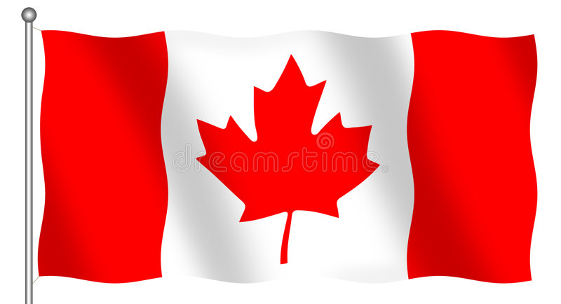 Download Canadian Flag stock illustration. Image of canada, patriotic - 1179944