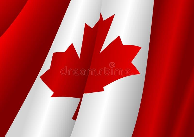 Canadian Flag. Illustration of a waving Canadian flag stock illustration