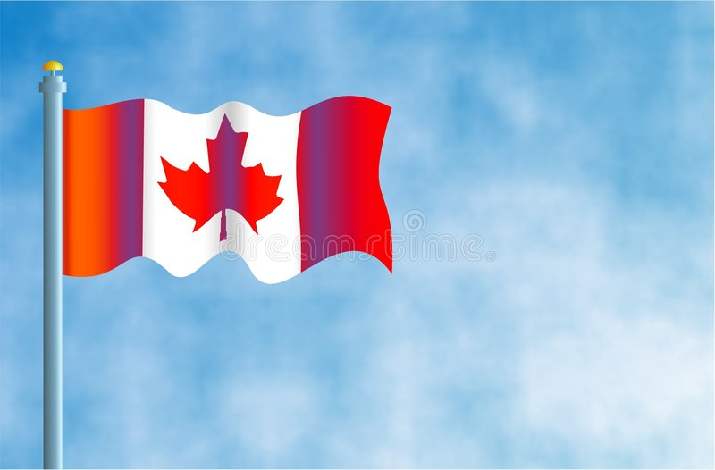 Canadian Flag stock illustration