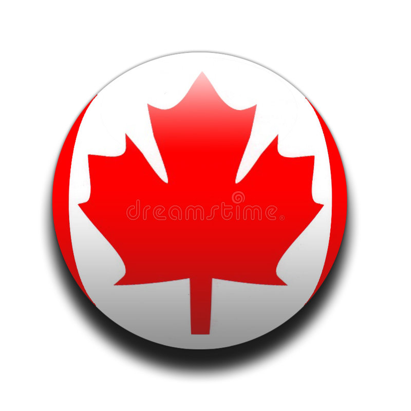 Canadian flag royalty free illustration