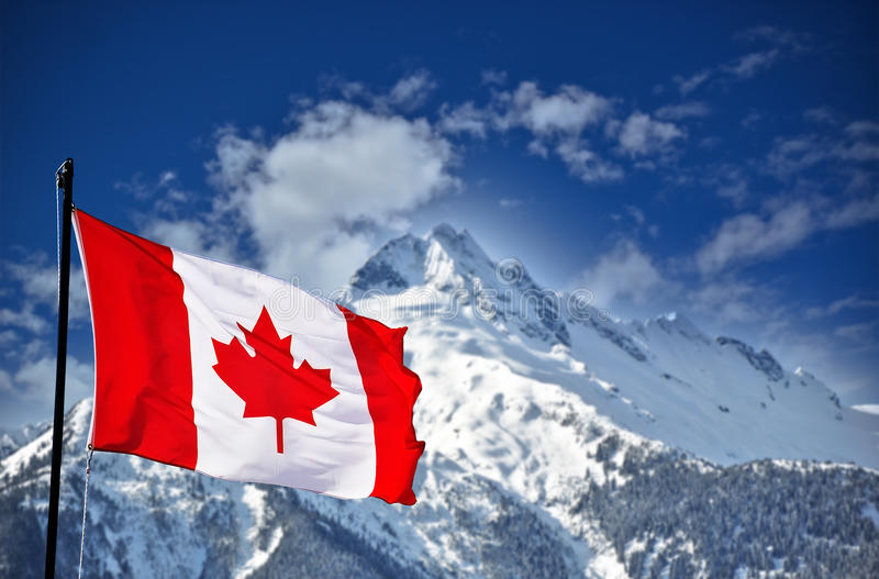 Download Canadian Flag And Beautiful Landscape Stock Photo - Image: 34827336
