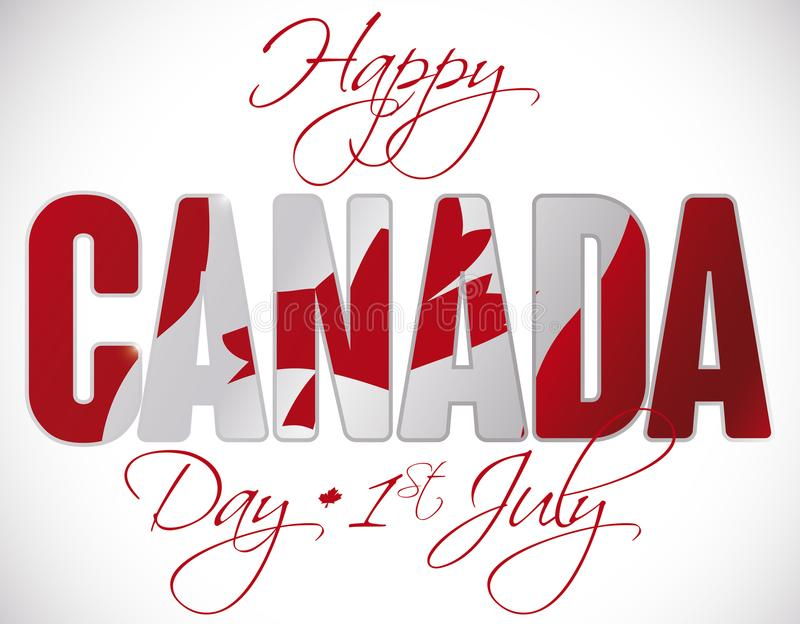 Canadian flag behind greetings for canada day in july 1 vector download canadian flag behind greetings for canada day in july 1 vector illustration stock illustration m4hsunfo