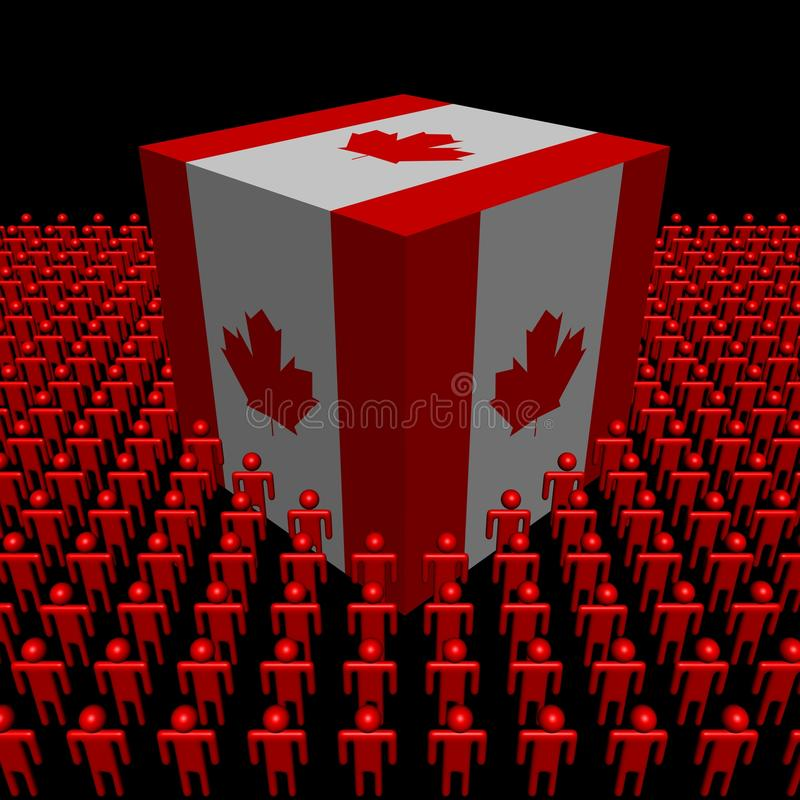 Download Canadian Flag Cube Surrounded By People Stock Illustration - Image: 23424319