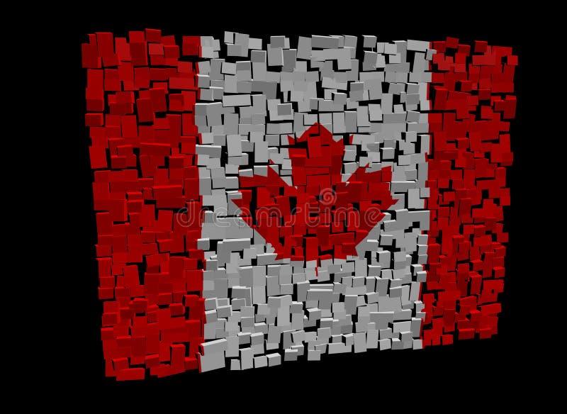 Download Canadian flag on cubes stock illustration. Illustration of damaged - 21739749
