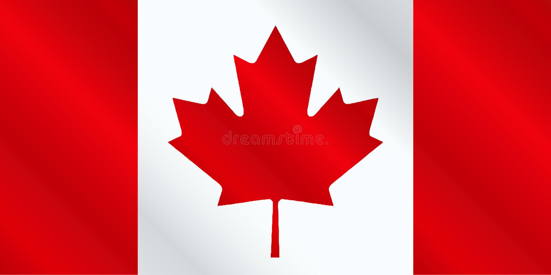 Canadian Flag Gloss royalty free illustration