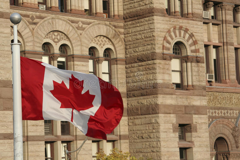 Download Canadian flag stock image. Image of center, downtown - 36260501