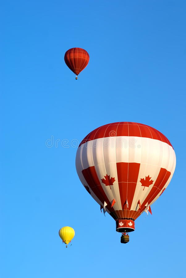 Canadian flag style balloon royalty free stock image