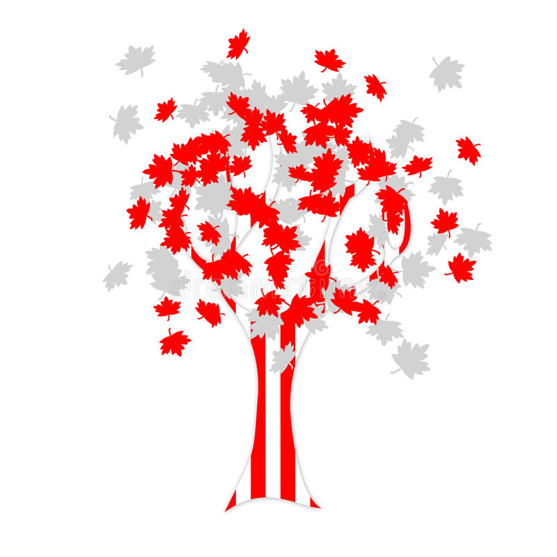 Download Canadian flag tree stock illustration. Image of nature - 19752965