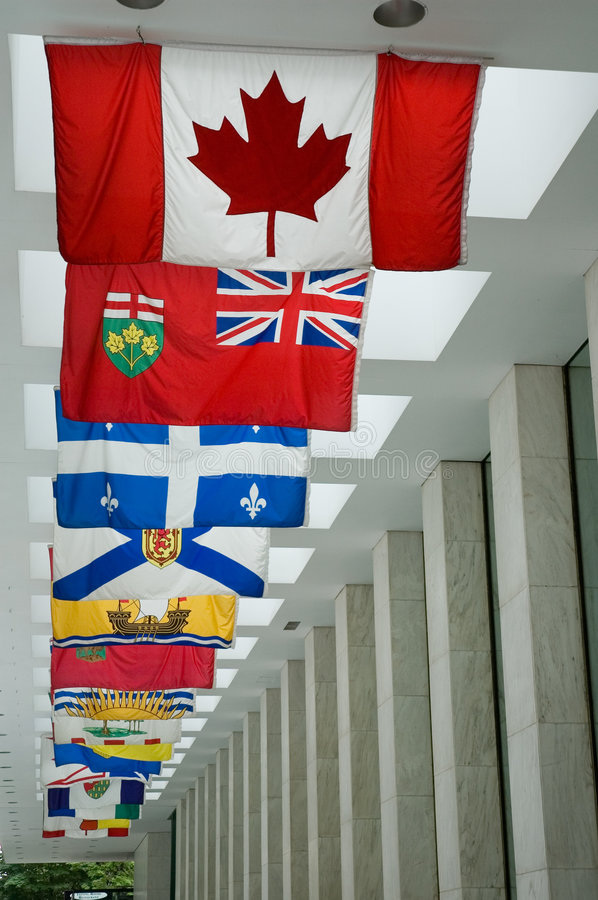 Canadian Flags royalty free stock photography