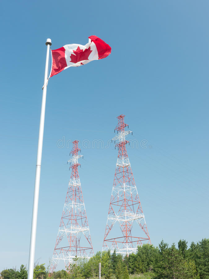 Canadian Hydro Electric Power Towers royalty free stock photo