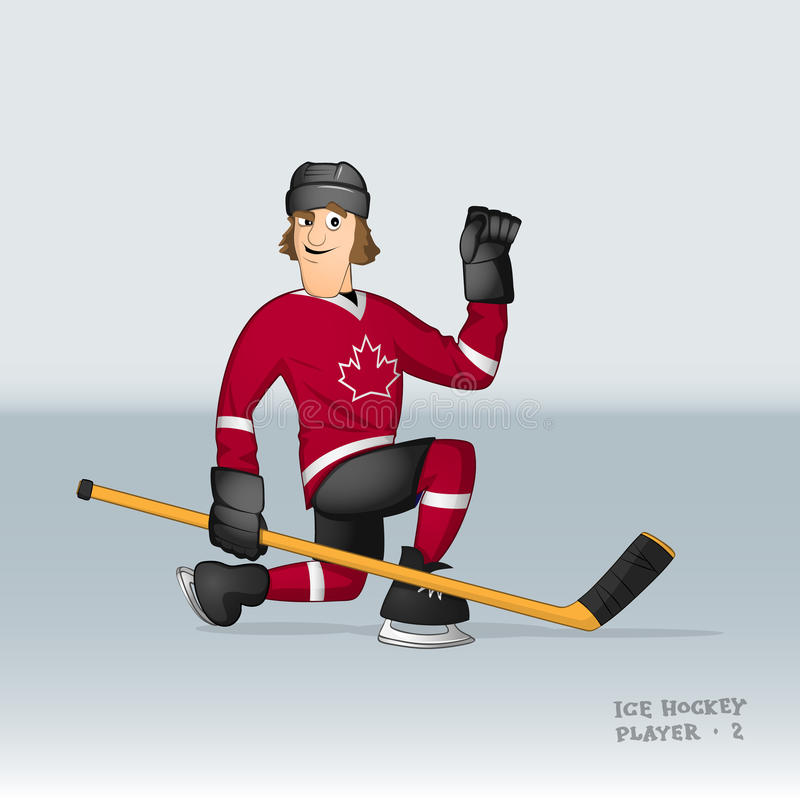 Canadian ice hockey player stock illustration